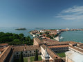 Venice view from the tower of the church of san giorgio magiore Stock Images