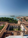 Venice view from the tower of the church of san giorgio magiore Stock Photo