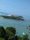 Venice view from the tower of the church of san giorgio magiore Royalty Free Stock Photos