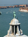 Venice view from the tower of the church of san giorgio magiore Stock Photos