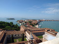 Venice view on venetian lagoon and islands from campanile san giorgio maggiore Royalty Free Stock Images