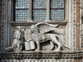 Venice winged lion of st mark symbol of Stock Image