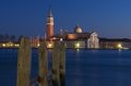 Venice. Winter evening. Royalty Free Stock Images