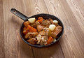 Venison ragout farm style old rustic country cuisine Stock Photos
