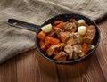 Venison ragout farm style old rustic country cuisine Stock Photos