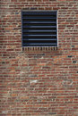 Vent in a brick wall Stock Photography