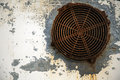 Metal Wall with Rusty Vent Royalty Free Stock Photo