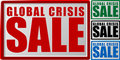 Vente globale de crise Photos stock