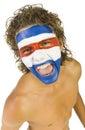 Ventilador de deporte paraguayo Imagenes de archivo
