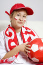 Ventilador de fútbol Foto de archivo libre de regalías