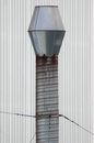 Ventilation chimney aluminium from a modern warehouse Royalty Free Stock Images