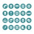 Ventilation equipment glyph icons. Air conditioning, cooling appliances, exhaust fan. Household and industrial