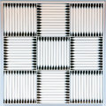 Ventilation grilles detail of a soffit vent Stock Photos