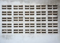 Ventilation void on concrete wall white Royalty Free Stock Photo