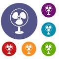 Ventilator icons set