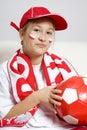 Ventilatorfotboll Royaltyfri Foto