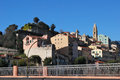 Ventimiglia border to italy france Royalty Free Stock Photography