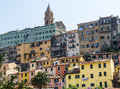 Ventimiglia imperia liguria italy panoramic view of the old town Royalty Free Stock Photography