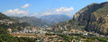 Ventimiglia panoramic view. Liguria, Italy. Stock Images