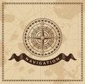 Vento d annata rose nautical compass Immagini Stock Libere da Diritti