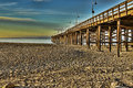 Ventura pier a colorful sunrise at the historic in california Royalty Free Stock Photography