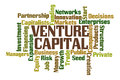 Venture capital word cloud on white background Royalty Free Stock Photo