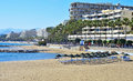 Venus Beach in Marbella, Spain Royalty Free Stock Photos