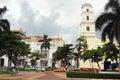 Veracruz plaza de la revolucion in mexico Stock Photo