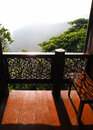 Veranda with view, thai house Royalty Free Stock Photos