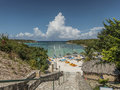 The verandah resort sport beach of on antigua island Stock Images