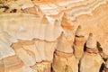 Verbazende rotsvormingen bij tentrotsen Royalty-vrije Stock Foto's