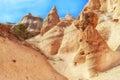 Verbazende rotsvormingen bij tentrotsen Stock Afbeeldingen