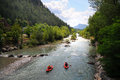Verdon river kayaking on in castellane haute provence france Stock Photo