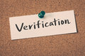 Verification Royalty Free Stock Photo