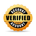 Verified account vector icon Royalty Free Stock Photo