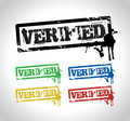 Verified sign stamp Stock Photo