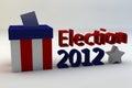 Verkiezing 2012 Royalty-vrije Stock Afbeeldingen