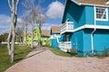 Verlaat Flatgebouwen met koopflats Royalty-vrije Stock Afbeelding