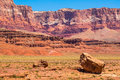 Vermilion cliffs dropout clear view on the vermillion along route a in arizona Royalty Free Stock Photo