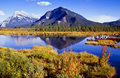 Vermillion Lakes Royalty Free Stock Photography