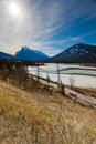 Vermillion Lakes in Banff Stock Photography