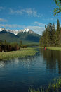 Vermillion lakes banff alberta canada in the bow river valley just outside the town of Royalty Free Stock Photography