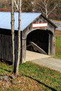 Vermont covered bridge a classic in with copy space Royalty Free Stock Image