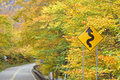 Vermont Fall Foliage, Smugglers Notch, Vermont Stock Photography