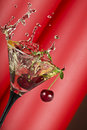Vermouth splash Royalty Free Stock Photo