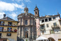 Vernasca cuneo val varaita piedmont italy old typical town church and houses Royalty Free Stock Photos