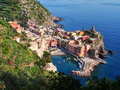 Vernazza cinque terre the charming coastal village of part of in northern italy Royalty Free Stock Photo