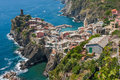 Vernazza cinque terre italy from above in the region of Royalty Free Stock Images