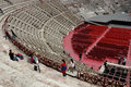 Verona amphitheater arena italy the of the in Stock Image
