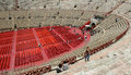 Verona amphitheater arena italy the of the in Stock Photography